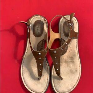 BOC born women's leather saddle brown Sandals